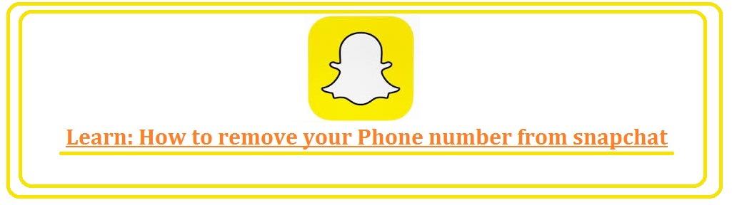 How to remove phone number from Snapchat