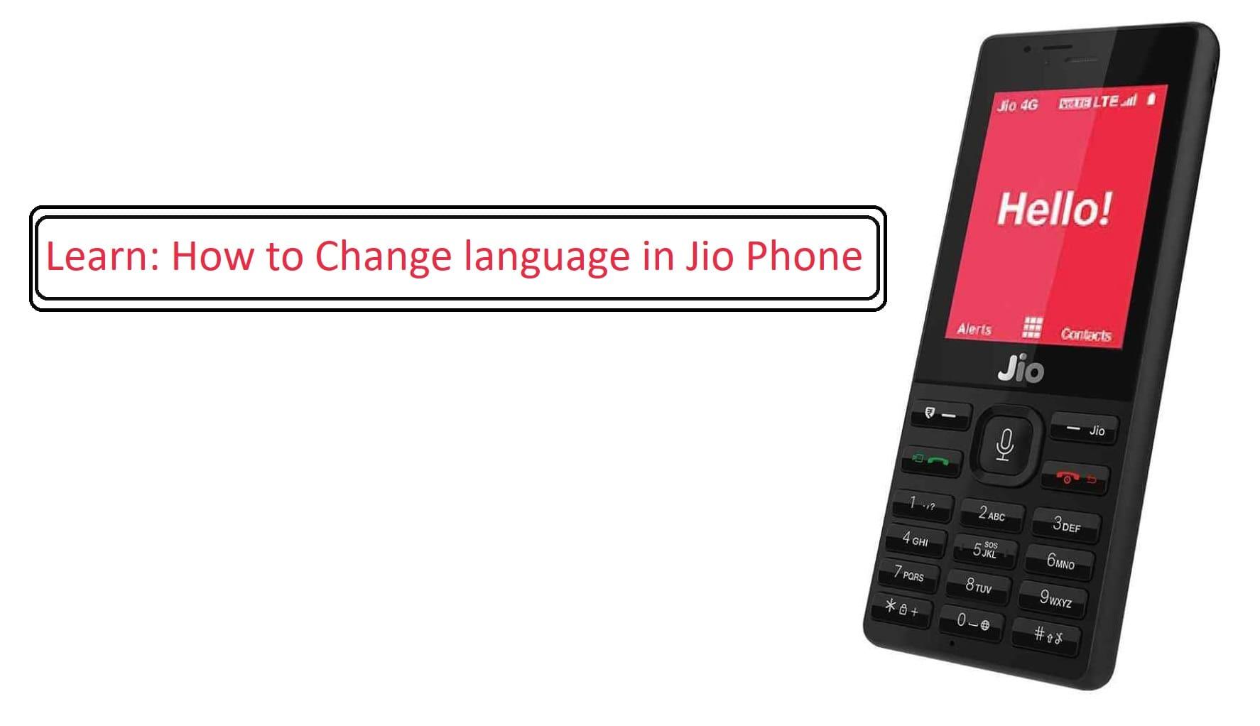 How to change language in jio phone