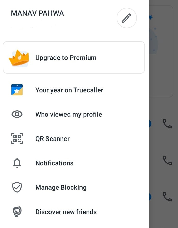 how to change name in truecaller