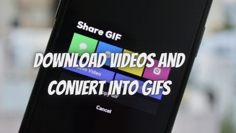 Download Videos and Convert into Gifs